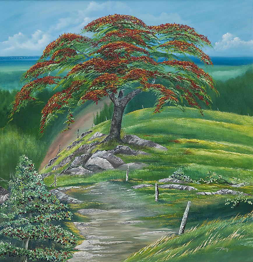 Tropical Flamboyan  Painting