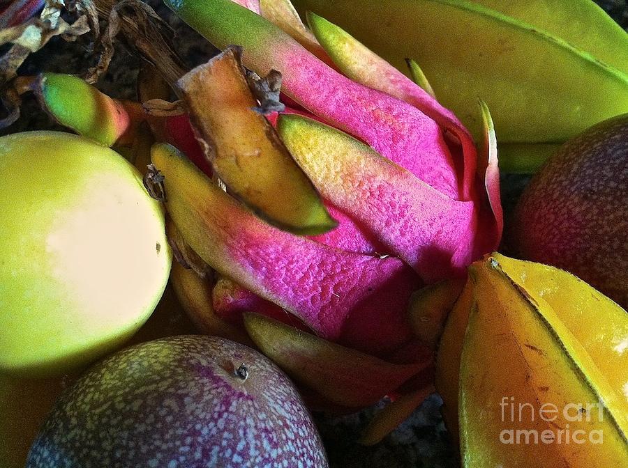 Tropical Fruit 3- Dragonfruit Arrangement Photograph
