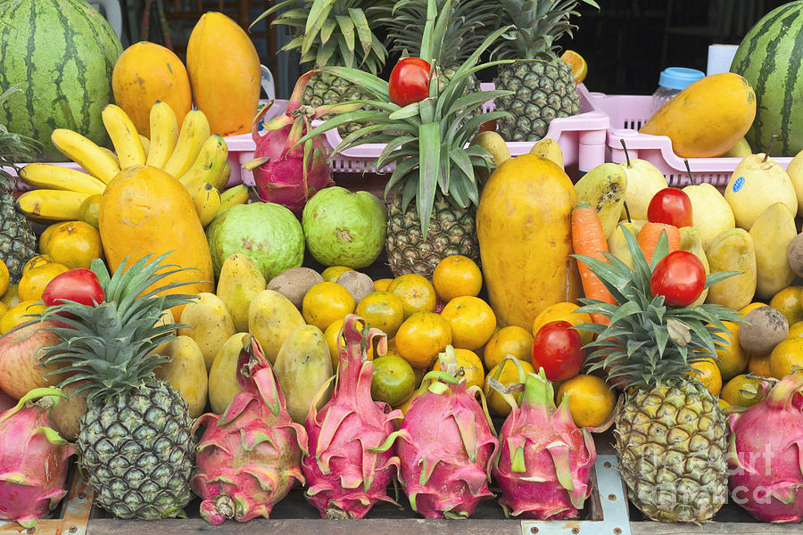 Attraction Photograph - Tropical Fruit Display  by Roberto Morgenthaler