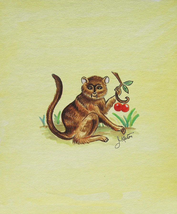 Tropical Monkey 1 Painting  - Tropical Monkey 1 Fine Art Print