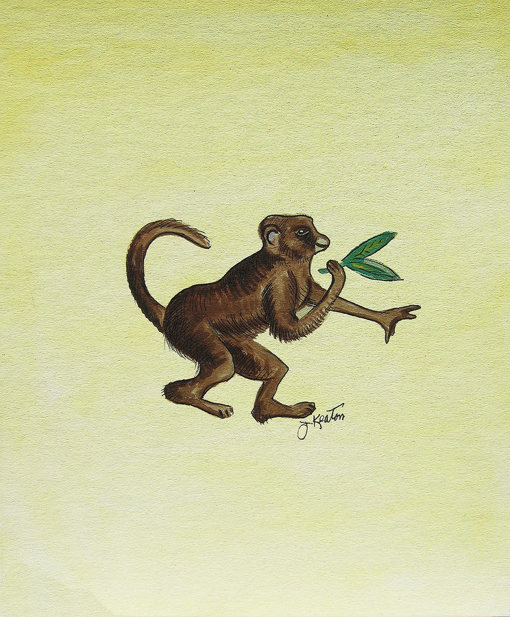 Tropical Monkey 2 Painting  - Tropical Monkey 2 Fine Art Print