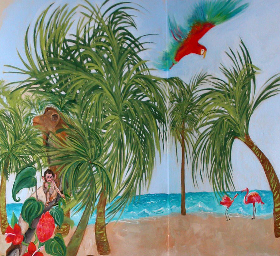 Tropical mural by anne cameron cutri for American tropical mural