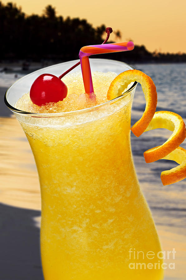Tropical Orange Drink Photograph
