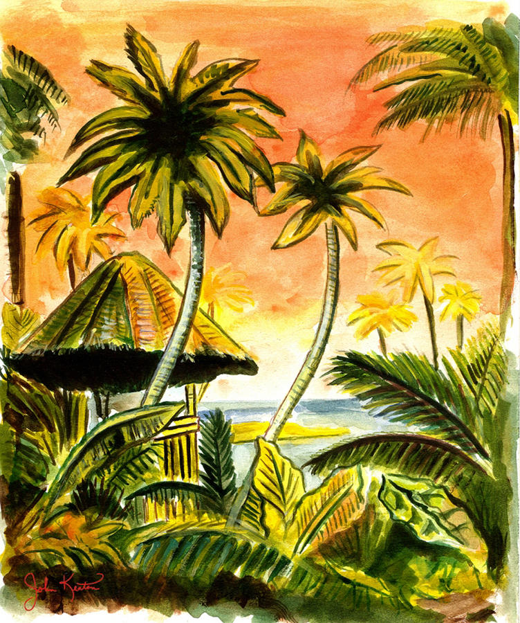 Tropical Skies Painting  - Tropical Skies Fine Art Print
