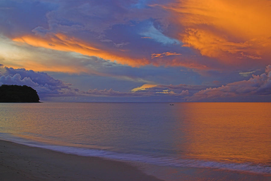 St Lucia Photograph - Tropical Sunset- St Lucia by Chester Williams