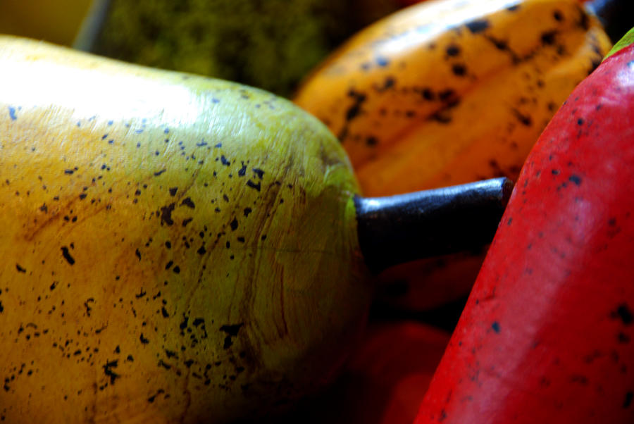 Tropical Wooden Fruits Photograph
