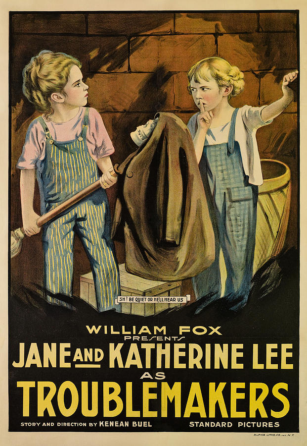 1910s Movies Photograph - Troublemakers, Jane Lee, Katherine Lee by Everett