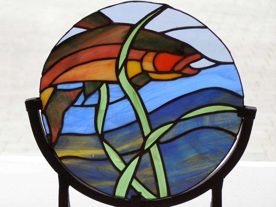 Trout Glass Art