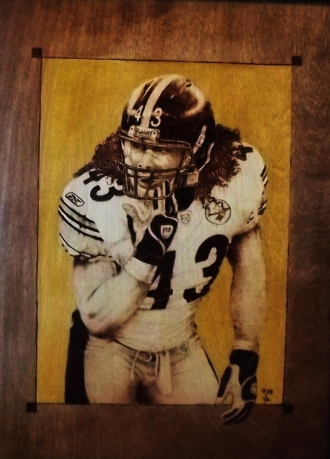 Pyrography Pyrography - Troy Polamalu by Freddy  Smith