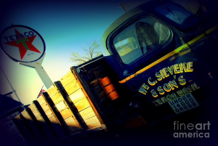Truck On Route 66 Photograph  - Truck On Route 66 Fine Art Print