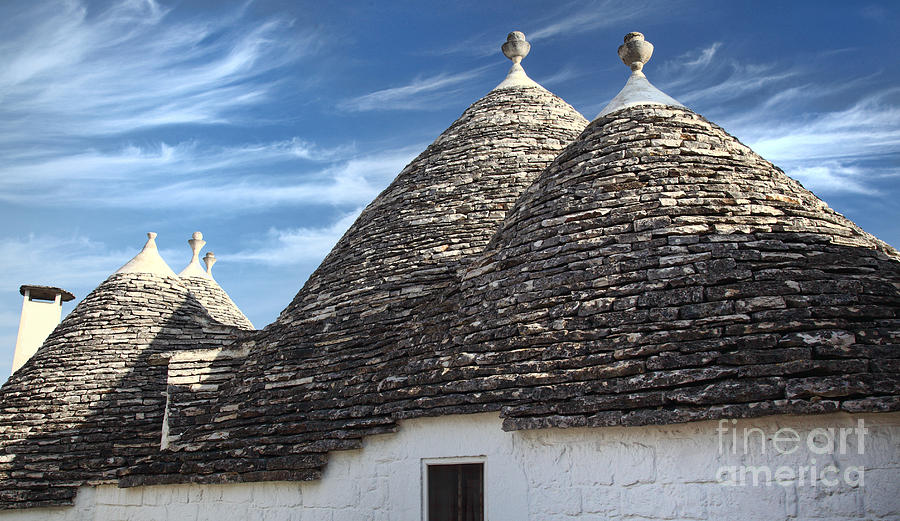 Trulli And Blue Sky Photograph  - Trulli And Blue Sky Fine Art Print