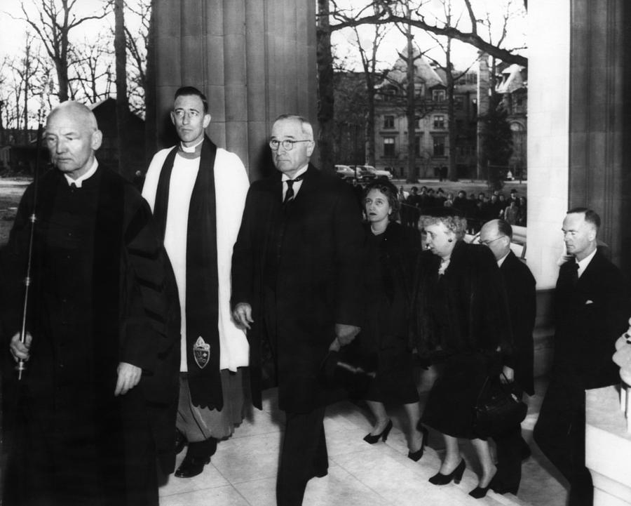 Truman Presidency. From Left Cathedral Photograph