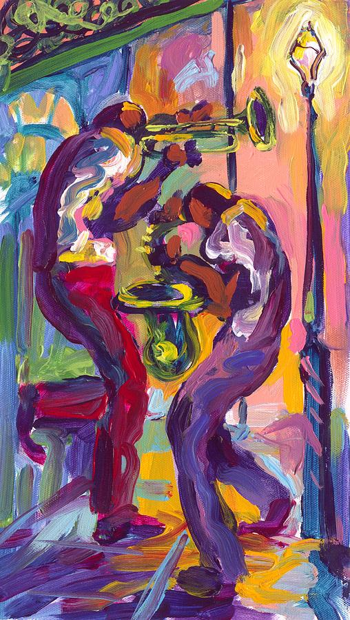Trumpet And Saxophone Painting  - Trumpet And Saxophone Fine Art Print
