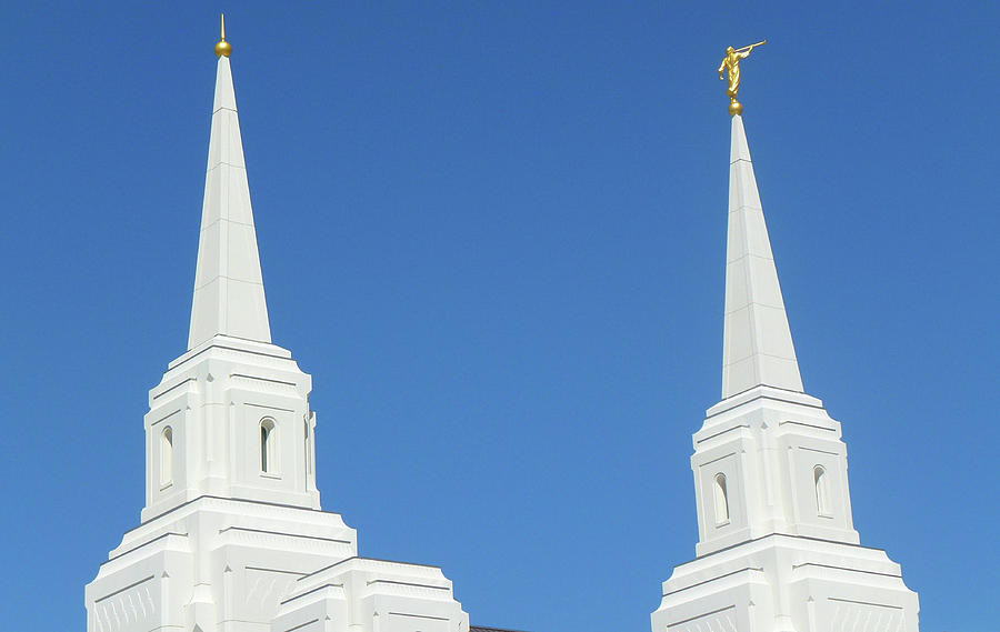 Brigham City Temple Digital Art - Trumpeting The Arrival Of The Lord by Gary Baird