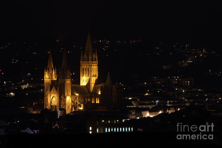 Truro Cathedral Illuminated Photograph  - Truro Cathedral Illuminated Fine Art Print