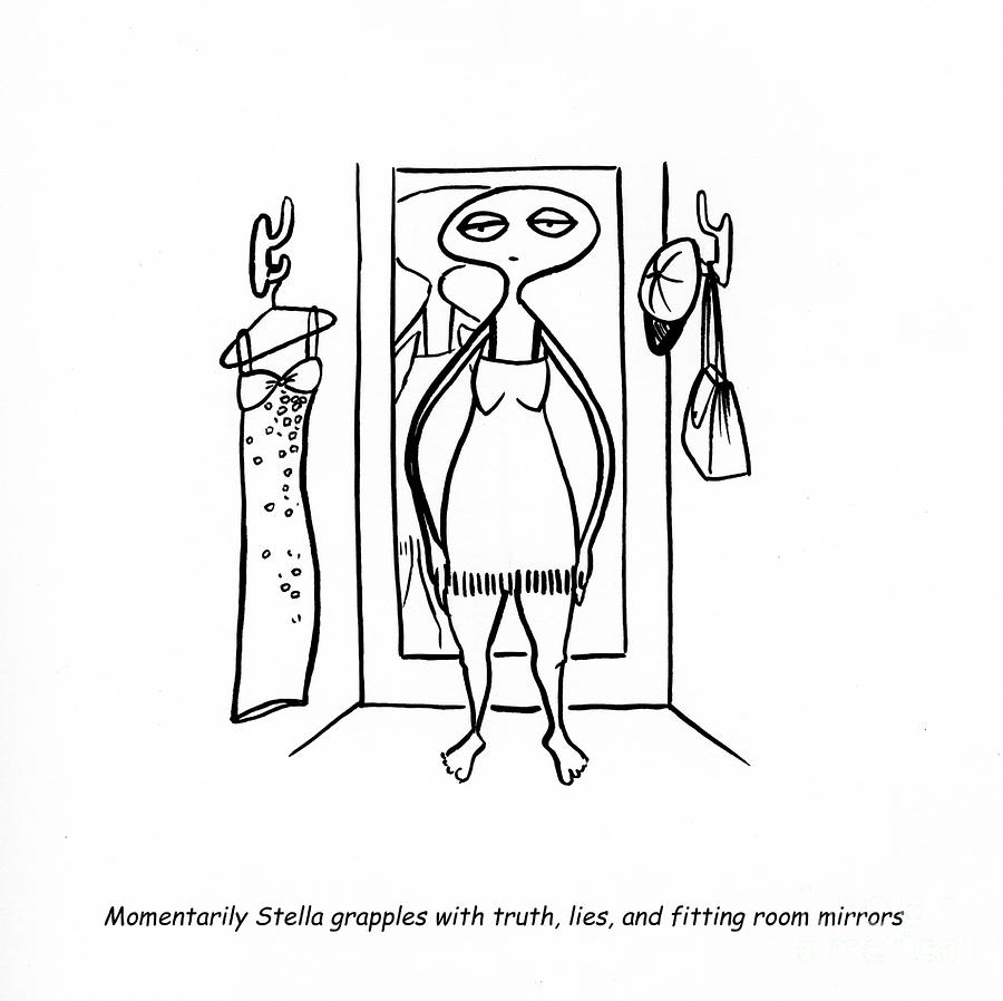 Truth And Lies Drawing