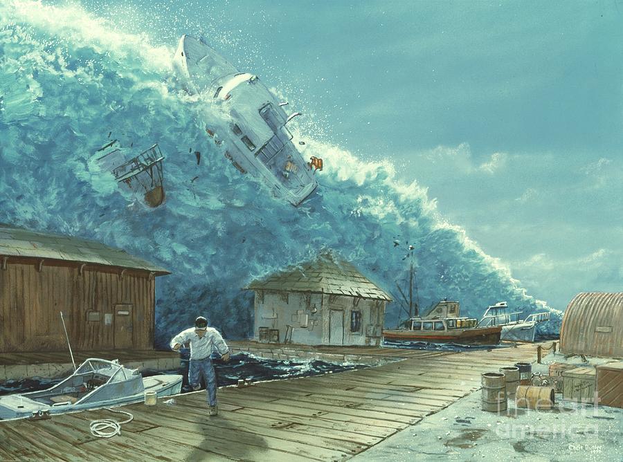 Tsunami Drawing