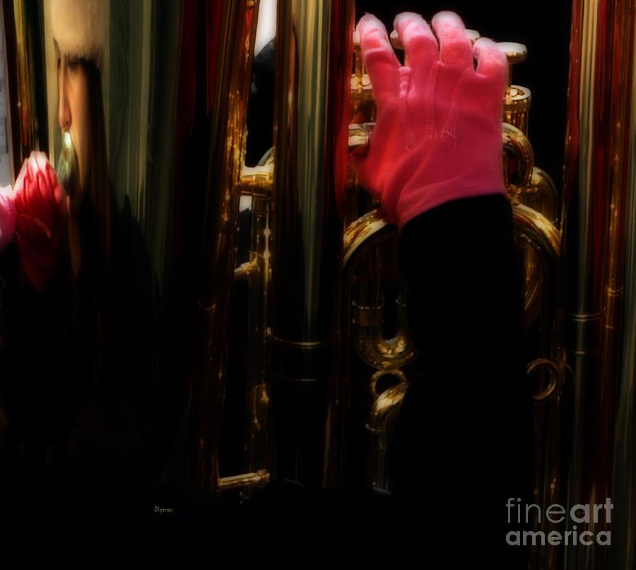 Tuba With Pink Photograph