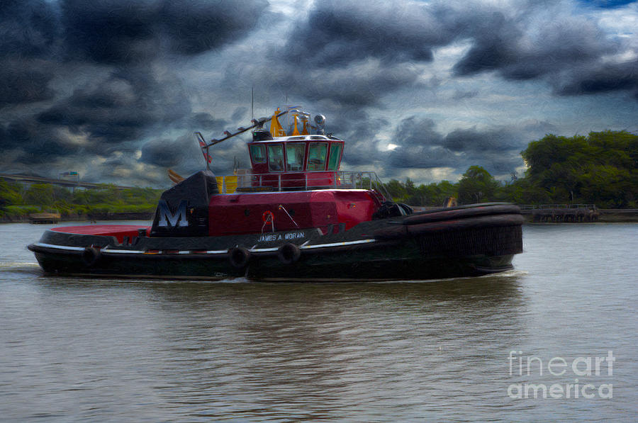 Tug Boat Moran Mixed Media