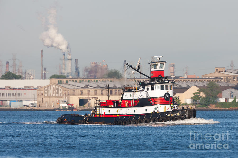 Tugboat Captain D In Newark Bay I Photograph  - Tugboat Captain D In Newark Bay I Fine Art Print