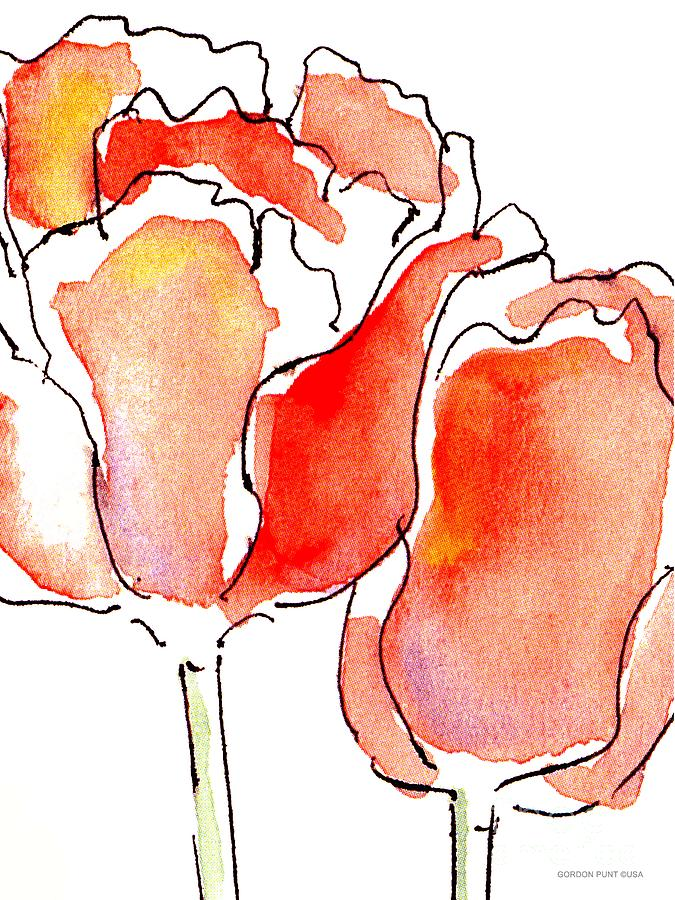 Tulip-abstract-paintings-1 Painting  - Tulip-abstract-paintings-1 Fine Art Print