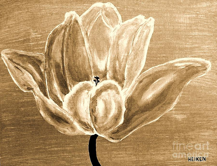 Tulip In Brown Tones Painting