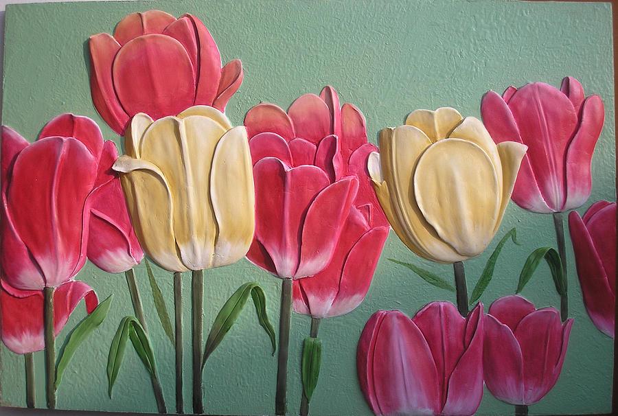 Tulip Mural Relief