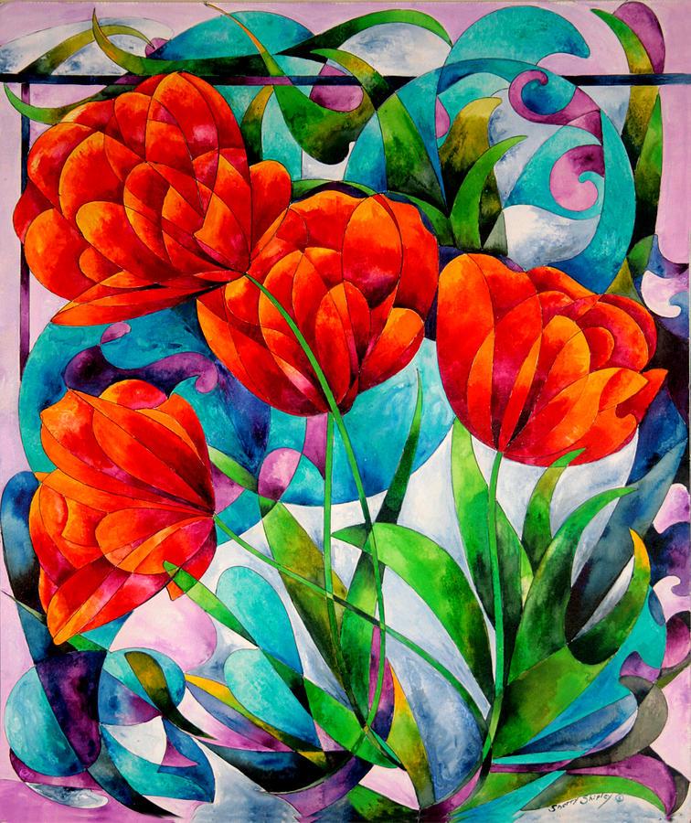 Tulip Quartet Painting