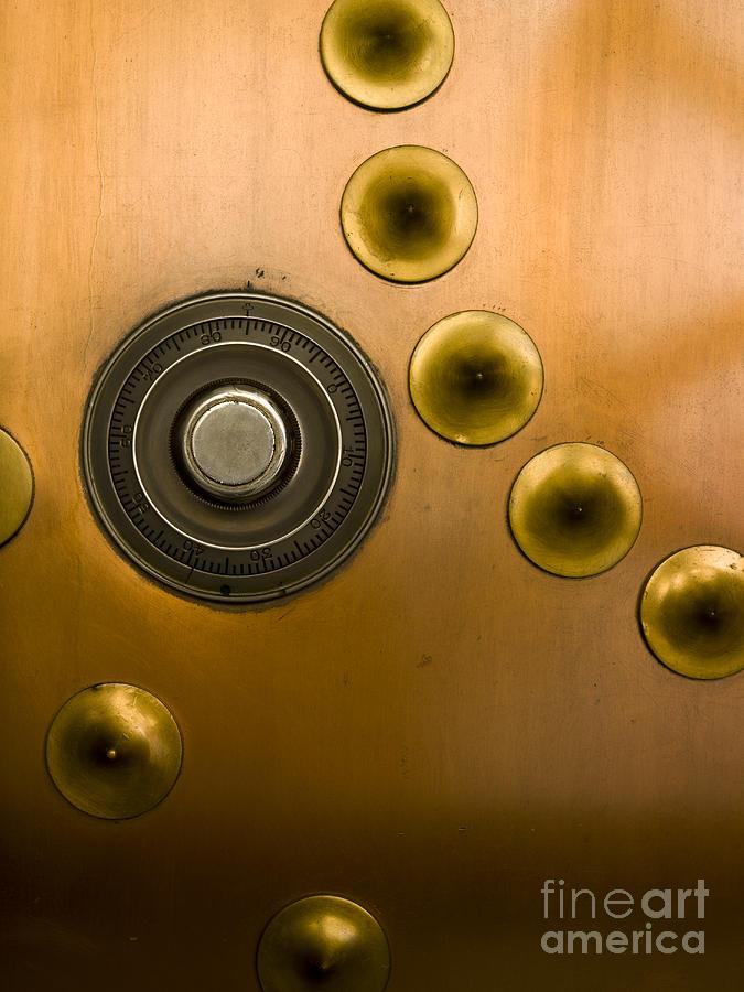 Tumbler On A Vault Door Photograph