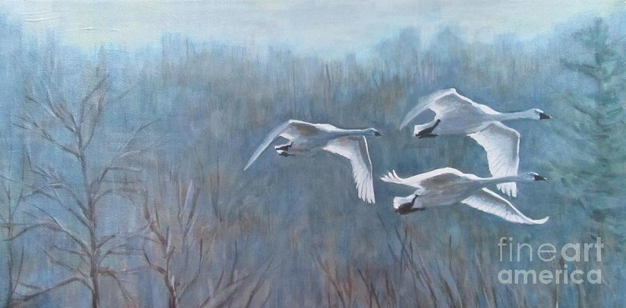 Tundra Trio Painting
