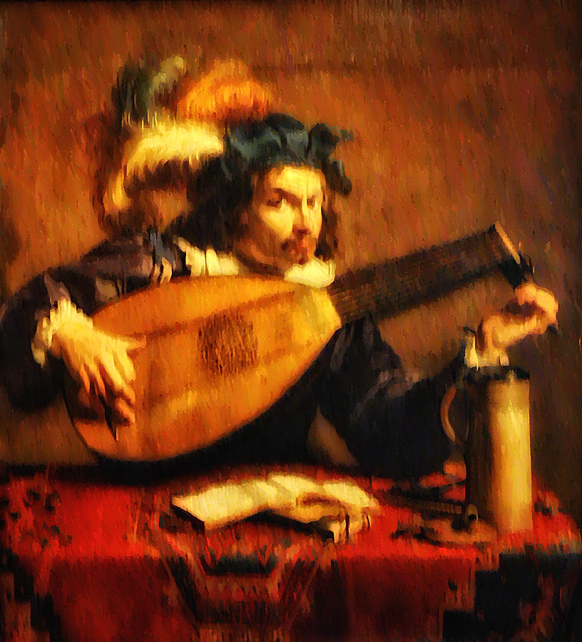 Tuning Up The Lute Photograph