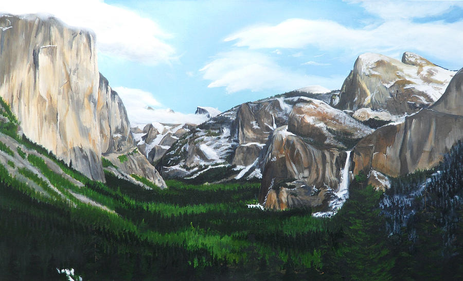 Yosemite Painting - Tunnel View by Travis Day