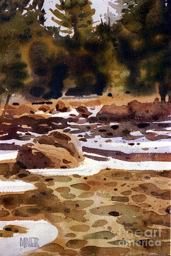 Tuolumne River Freeze Painting