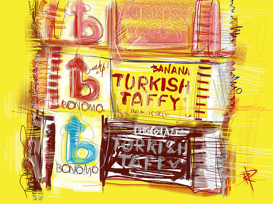 Turkish Taffy Mixed Media  - Turkish Taffy Fine Art Print