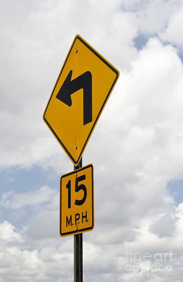 Turn Sign Photograph