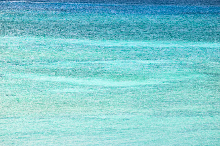 Turquoise Blue Carribean Water Photograph
