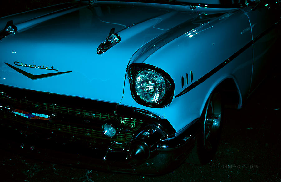 Turquoise Chevy Photograph