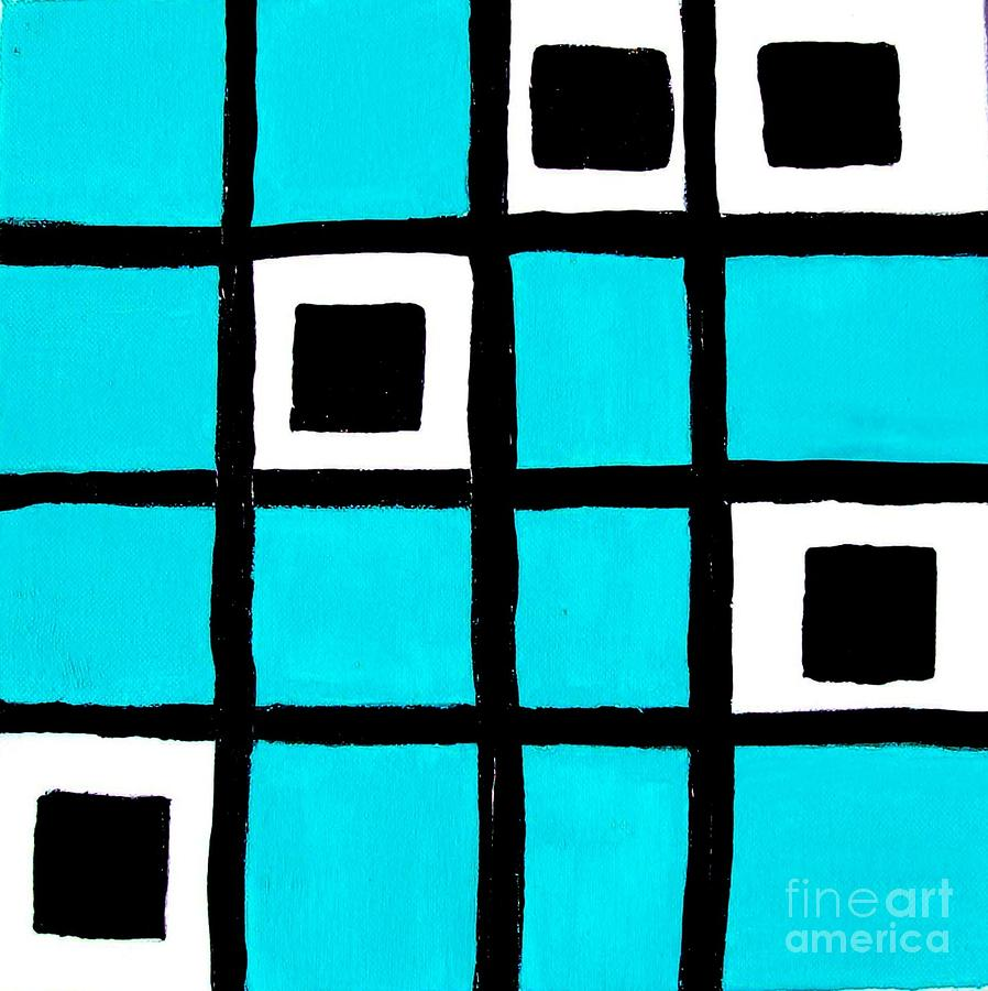 Turquoise Squares Painting