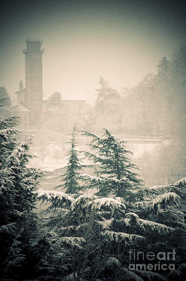 Turret In Snow Photograph  - Turret In Snow Fine Art Print