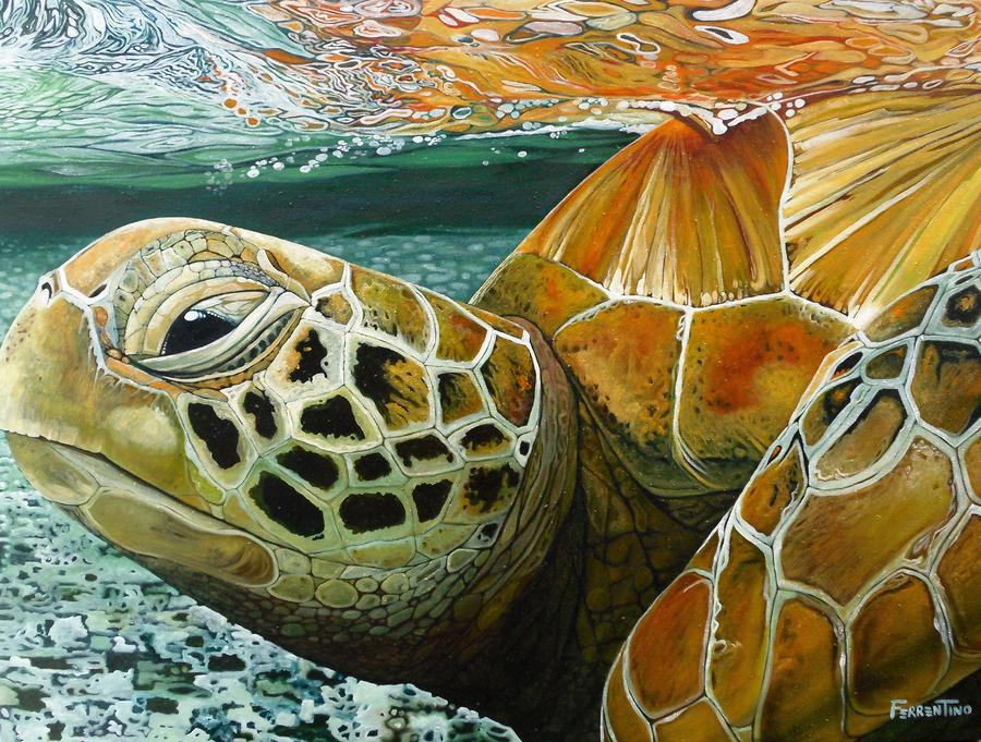 Turtle Me Too Painting  - Turtle Me Too Fine Art Print