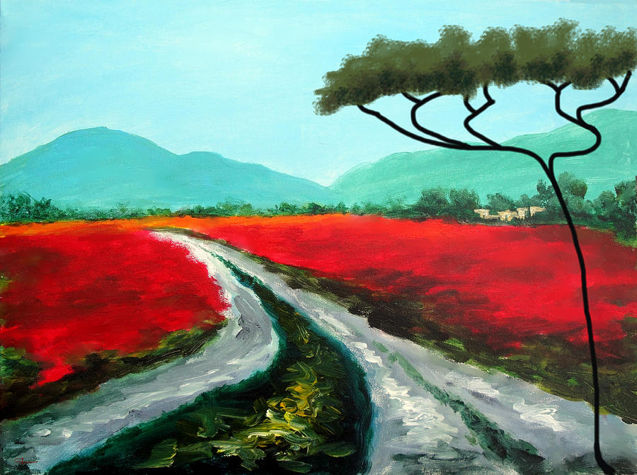 Tuscan Bliss Painting  - Tuscan Bliss Fine Art Print