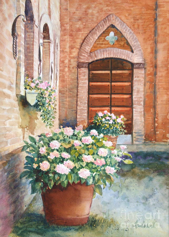 Tuscan Courtyard Painting
