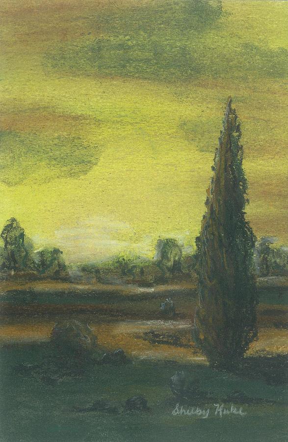 Tuscan Dusk 1 Pastel