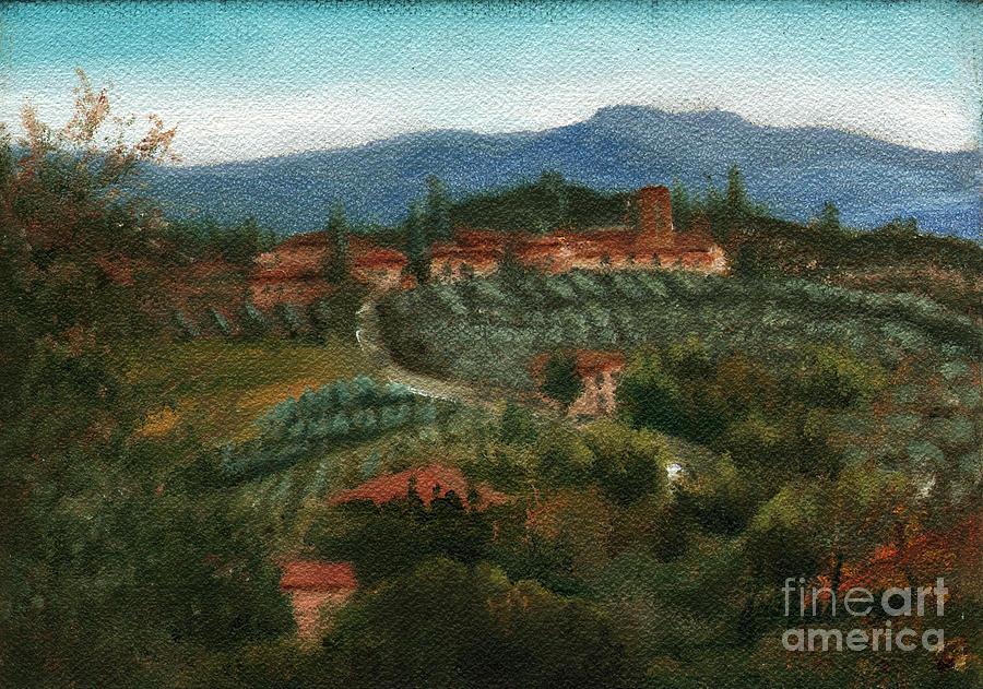 Tuscan Farm Painting
