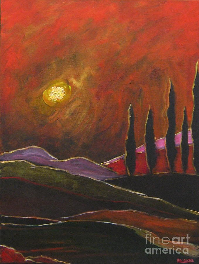 Tuscan Sunset Rage Painting