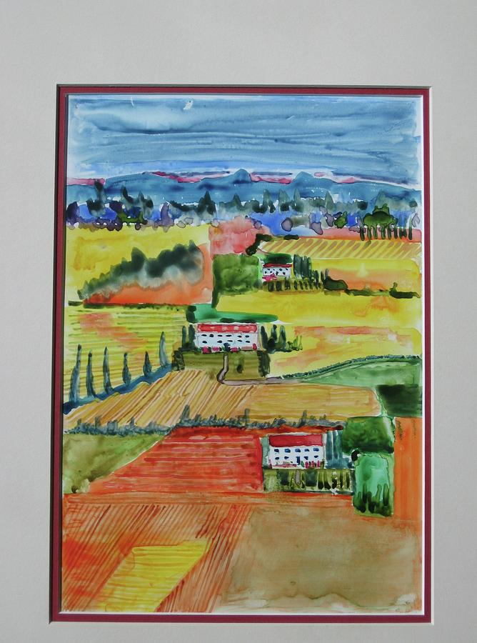 Tuscany In Summer Painting  - Tuscany In Summer Fine Art Print