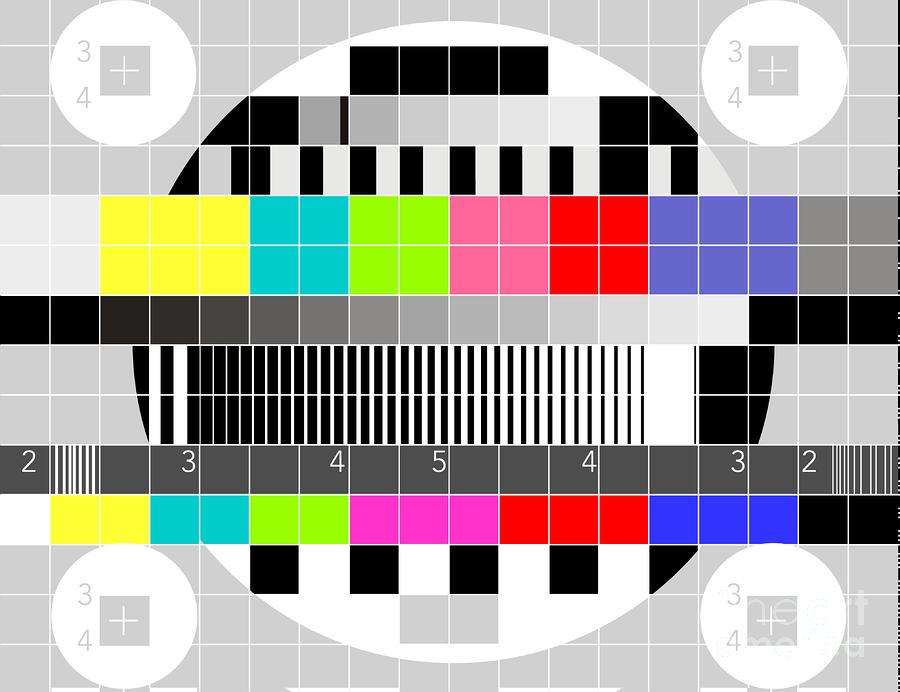 Tv Multicolor Signal Test Pattern Digital Art  - Tv Multicolor Signal Test Pattern Fine Art Print
