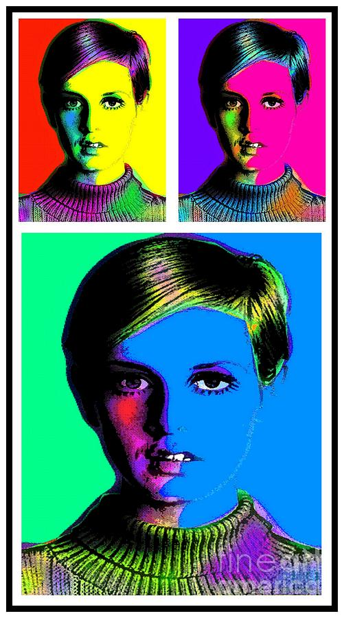 Twiggy Mixed Media  - Twiggy Fine Art Print