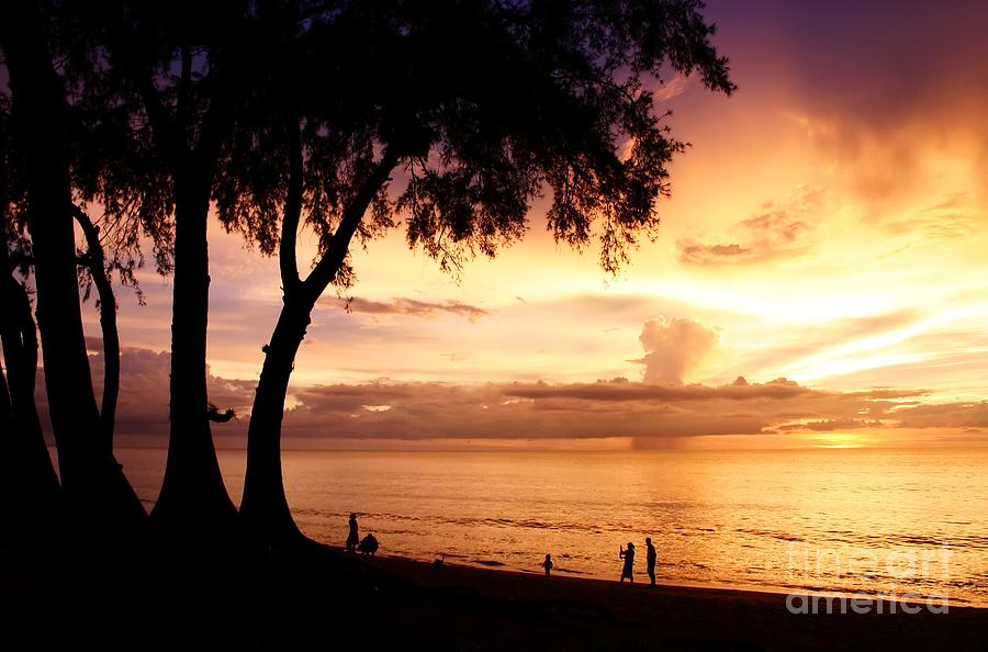 Twilight At Maikao Beach Phuket  Photograph