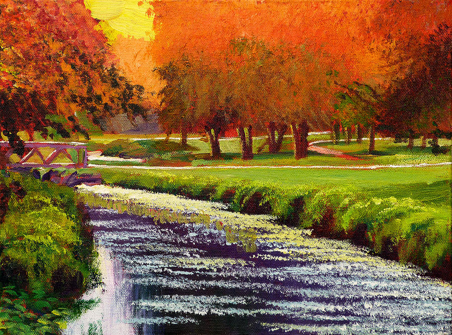 Twilight Golf II Painting